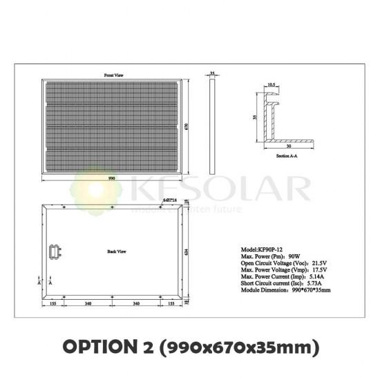 Polycrystalline Solar Panel 90W